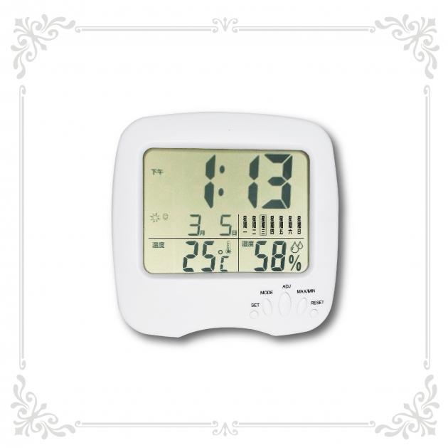 多功能溫溼度時鐘 1